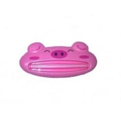 Wyciskacz Pasty do zębów w kształcie świnki w kolorze różowym