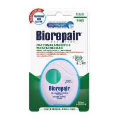BIOREPAIR - woskowana nic dentystyczna, remineralizująca, miętowa - 50 m (zielona)