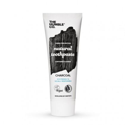 Humble Brush - Naturalna ekologiczna czarna pasta do zębów z aktywnym węglem i fluorem, 75 ml