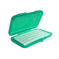 Wosk ortodontyczny bezzapachowy w miętowo-brokatowym pudełku