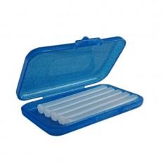 Wosk ortodontyczny bezzapachowy w niebiesko-brokatowym pudełku