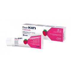 KIN Fluor Calcium - pasta dla dzieci truskawkowa zapobiegająca powstawaniu próchnicy - 75ml