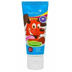 BRUSH-BABY Spearmint - pasta do zębów dla dzieci w wieku powyżej 6 lat - smak miętowy (50 ml)