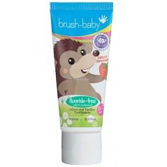 BRUSH-BABY - pasta do zębów bez fluoru dla dzieci w wieku od 0-2 - smak truskawkowy (50 ml)