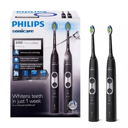Philips Sonicare ProtectiveClean Whitening 6100 HX6870/34 - Zestaw dwóch szczoteczek sonicznych