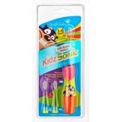 BRUSH-BABY KidzSonic - Szczoteczka soniczna dla dzieci w wieku 3-6 lat różowa