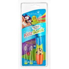 BRUSH-BABY KidzSonic - Szczoteczka soniczna dla dzieci w wieku 3-6 lat niebieska