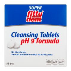 FITTYDENT Super -Tabletki do czyszczenia ruchomych aparatów retencyjnych (retainerów), ortodontycznych i protez - 32 sztuki