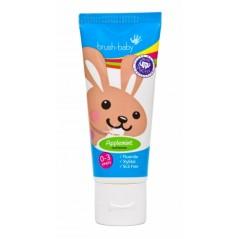 BRUSH-BABY - pasta do zębów dla dzieci w wieku 0-3 lat - smak jabłkowo-miętowy (50 ml)