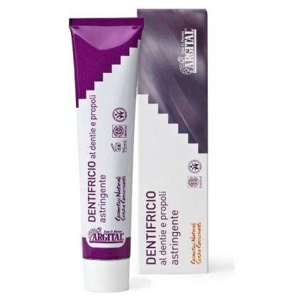 ARGITAL Astringente - CZARNA PASTA, białe zęby, w 100% naturalna - 75 ml