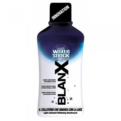 BLANX White Shock Płukanka 500ml - Wybielający płyn do higieny jamy ustnej aktywowany światłem