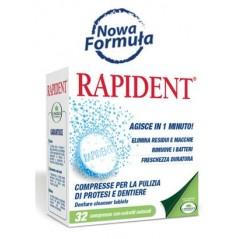 L'Angelica tabletki RAPIDENT -Tabletki do czyszczenia ruchomych aparatów ortodontycznych i protez zębowych 32 sztuki